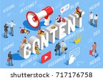 content marketing concept... | Shutterstock .eps vector #717176758