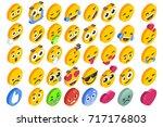 emoji set emoticon reactions....   Shutterstock .eps vector #717176803