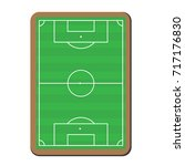 soccer game strategy plan... | Shutterstock .eps vector #717176830