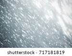 snowflakes particles and white  ... | Shutterstock . vector #717181819
