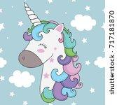 unicorn | Shutterstock .eps vector #717181870