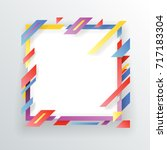 abstract paper frame flyer... | Shutterstock .eps vector #717183304