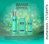 3d realistic cosmetic bottle... | Shutterstock .eps vector #717183976