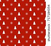 christmas new year seamless...   Shutterstock .eps vector #717184354