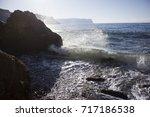 nature ocean fantastic... | Shutterstock . vector #717186538