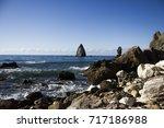 nature ocean fantastic... | Shutterstock . vector #717186988