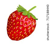 realistic strawberry on white... | Shutterstock .eps vector #717188440