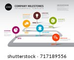 vector infographic company... | Shutterstock .eps vector #717189556