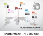 vector multipurpose infographic ... | Shutterstock .eps vector #717189580