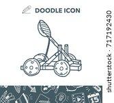 trebuchet doodle   Shutterstock .eps vector #717192430