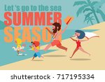 summer season let is go to the... | Shutterstock .eps vector #717195334