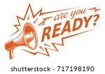 are you ready sign with... | Shutterstock .eps vector #717198190