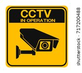 cctv camera. black video... | Shutterstock .eps vector #717200488