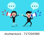 happy businessman and... | Shutterstock .eps vector #717204580