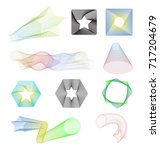 abstract blend lines designs... | Shutterstock .eps vector #717204679