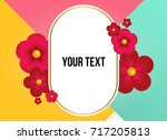 wonderful background with... | Shutterstock .eps vector #717205813