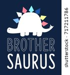brother  slogan and sweet... | Shutterstock .eps vector #717211786