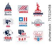 united states of america logo... | Shutterstock .eps vector #717212458