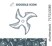 ninja weapon doodle | Shutterstock .eps vector #717213280