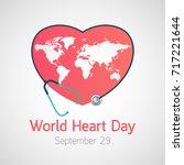 world heart day vector icon... | Shutterstock .eps vector #717221644