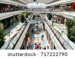Small photo of LISBON, PORTUGAL - AUGUST 10, 2017: People Crowd Looking For Summer Sales In Vasco da Gama Shopping Center Mall.