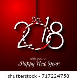 2018 happy new year background... | Shutterstock .eps vector #717224758