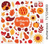 thanksgiving day design... | Shutterstock .eps vector #717224833