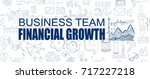 financial growth concept with... | Shutterstock .eps vector #717227218