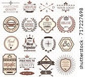 set of retro design labels and... | Shutterstock .eps vector #717227698