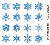 snowflake icons set isolated.... | Shutterstock .eps vector #717230026