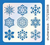 stencil of snowflakes  laser... | Shutterstock .eps vector #717230038