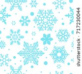 snowflakes seamless pattern.... | Shutterstock .eps vector #717230044