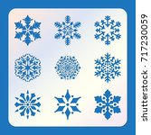 stencil of snowflakes  laser... | Shutterstock .eps vector #717230059