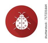 ladybug flat design long shadow ... | Shutterstock . vector #717231664