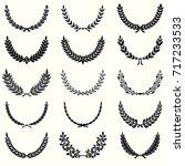laurel wreathes set | Shutterstock .eps vector #717233533