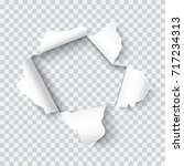 vector realistic hole in the... | Shutterstock .eps vector #717234313