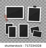 instant photo frame collection.... | Shutterstock .eps vector #717234328