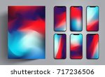 wallpaper for smartphone or... | Shutterstock .eps vector #717236506