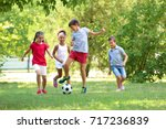 cute children playing football...
