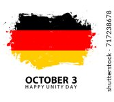 germany happy unity day ... | Shutterstock .eps vector #717238678
