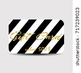 gift card layout template... | Shutterstock .eps vector #717239023