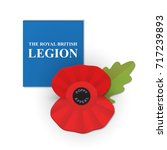 the remembrance poppy   poppy... | Shutterstock .eps vector #717239893