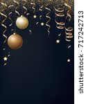 vector christmas background... | Shutterstock .eps vector #717242713