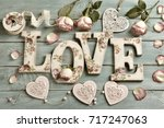 love background with vintage... | Shutterstock . vector #717247063