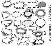 set of empty comic bubbles | Shutterstock .eps vector #717248290