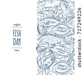 design a fish menu template for ... | Shutterstock .eps vector #717249226