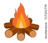 Campfire Vector Icon...