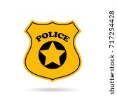 police service vector eps sign... | Shutterstock .eps vector #717254428