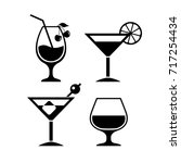 cocktail vector eps icon... | Shutterstock .eps vector #717254434