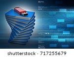 3d illustration of usb on the... | Shutterstock . vector #717255679